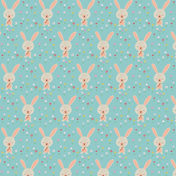 daisy the rabbit wrapping paper