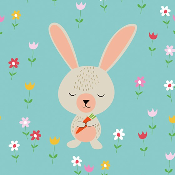 "papier d'emballage ""daisy the rabbit"""