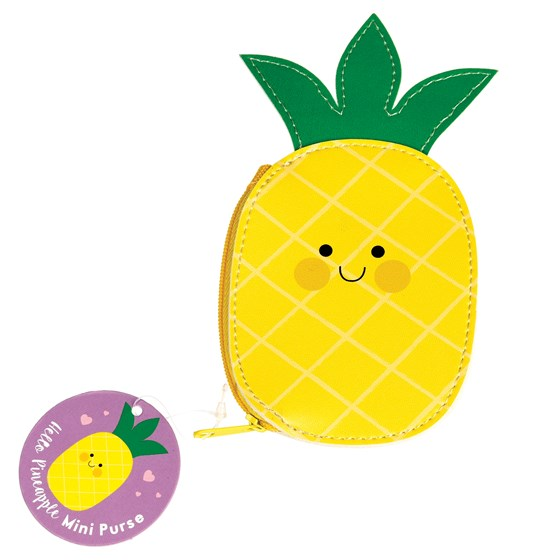 HELLO PINEAPPLE VINYL PURSE