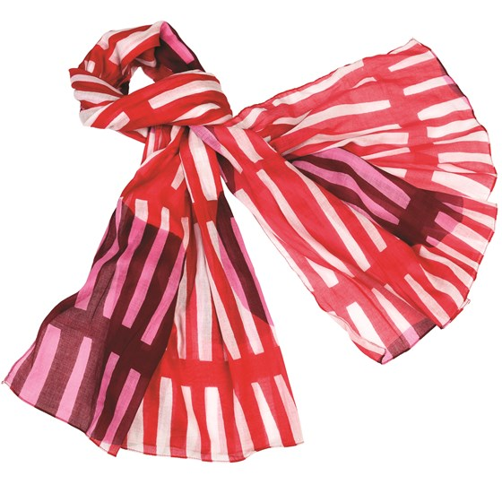 milano red cotton scarf