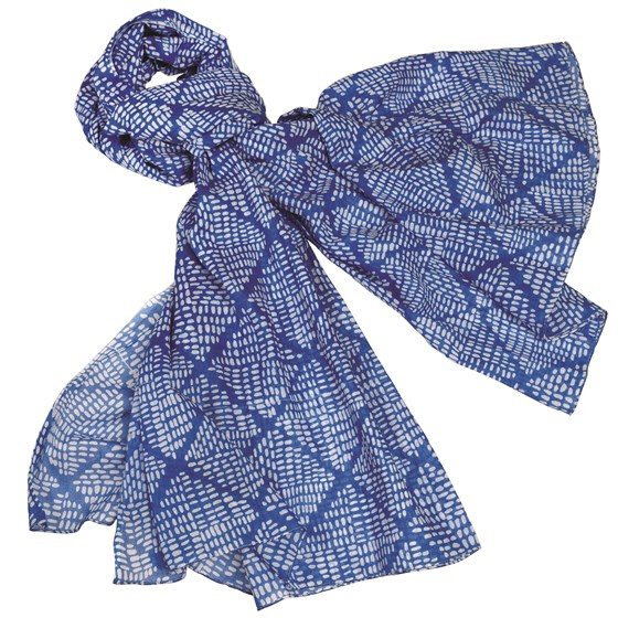 santorini blue cotton scarf