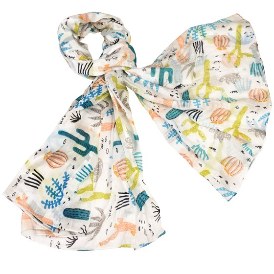 desert in bloom cotton scarf