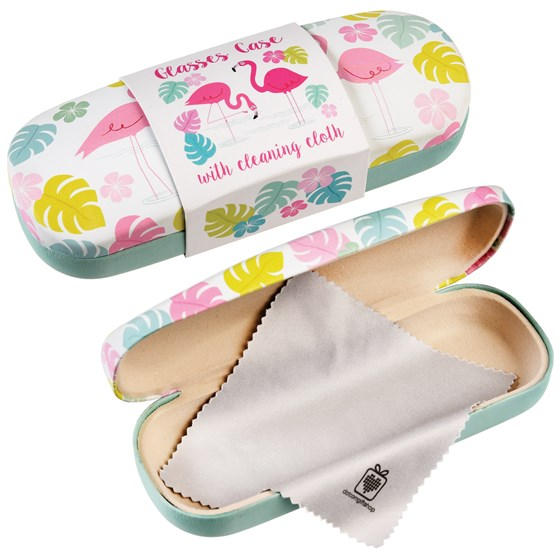 FLAMINGO BAY GLASSES CASE & CLEANING CLOTH