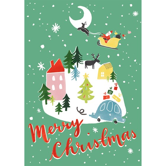CHRISTMAS WONDERLAND GREETING CARD