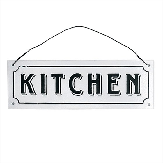 KITCHEN METAL SIGN