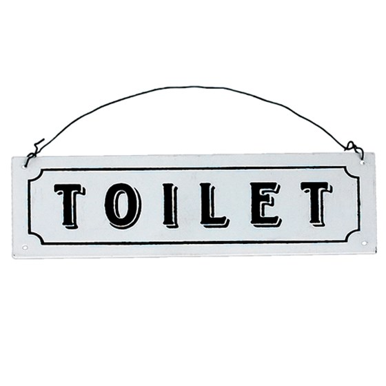 TOILET METAL SIGN