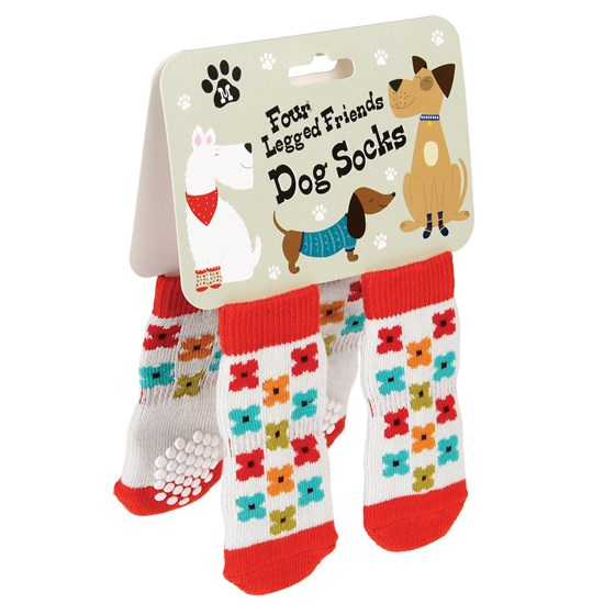 MEDIUM MID CENTURY POPPY DOG SOCKS