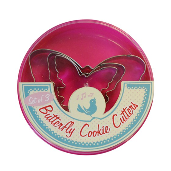 SET OF 3 BUTTERFLY COOKIE CUTTERS