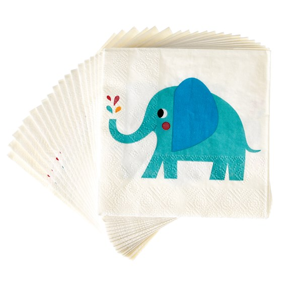 ELVIS THE ELEPHANT COCKTAIL NAPKINS (PACK OF 20)