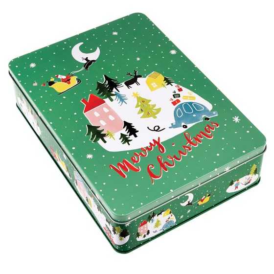 CHRISTMAS WONDERLAND MINCE PIE TIN