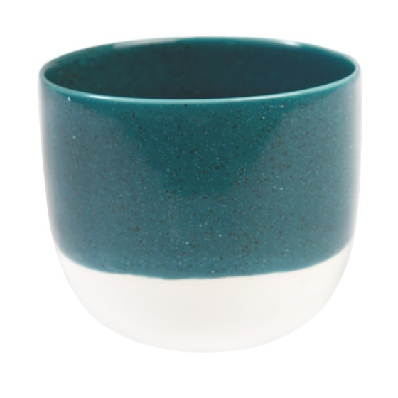 petrol blue dipped tea light holder