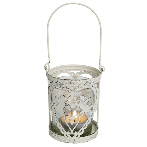 cherub hanging tealight holder
