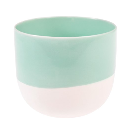 aqua marine dipped tea light holder