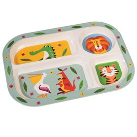 colourful creatures melamine tray