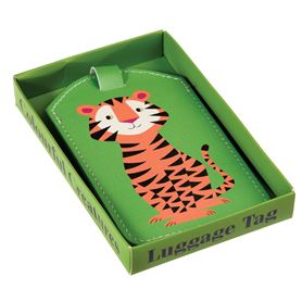 tiger luggage tag