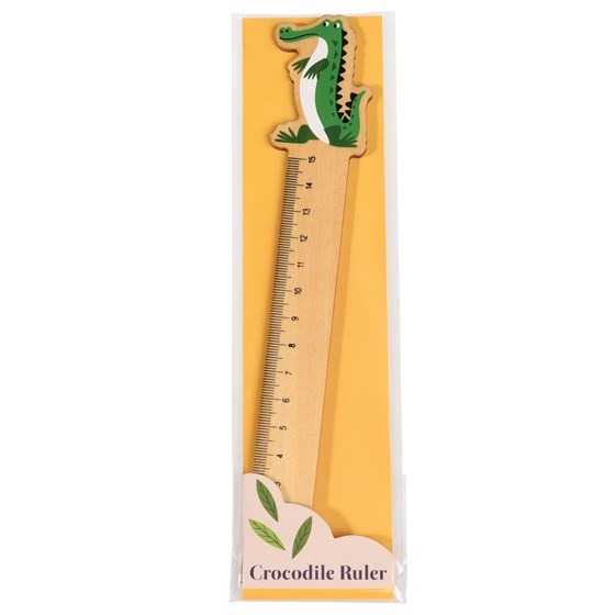 harry the crocodile wooden ruler