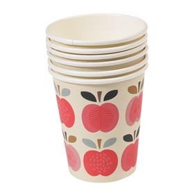 "set 8 pappbecher ""vintage apple"""