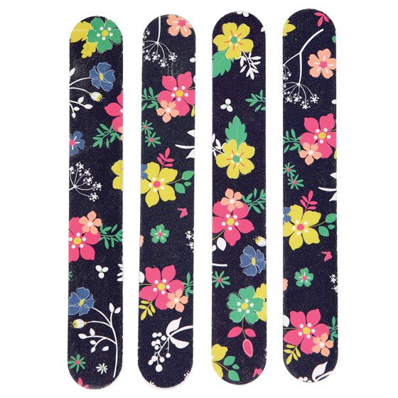 SET OF 4 NAIL FILES DITSY GARDEN DESIGN