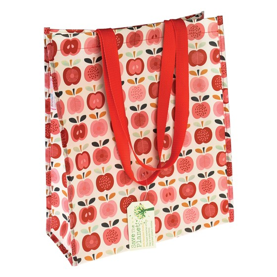 vintage apple shopping bag