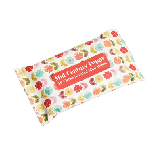 mini wet wipes mid century poppy
