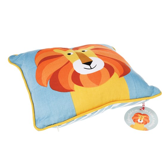 charlie the lion children cushion with pad