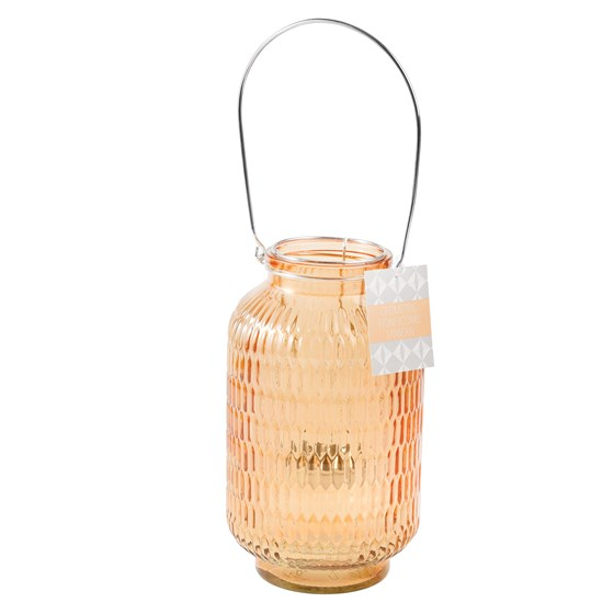 honeycomb tea light holder amber