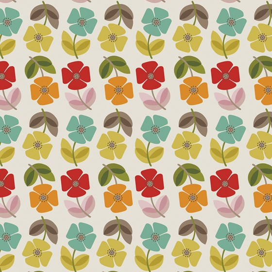 MID CENTURY POPPY WRAPPING PAPER