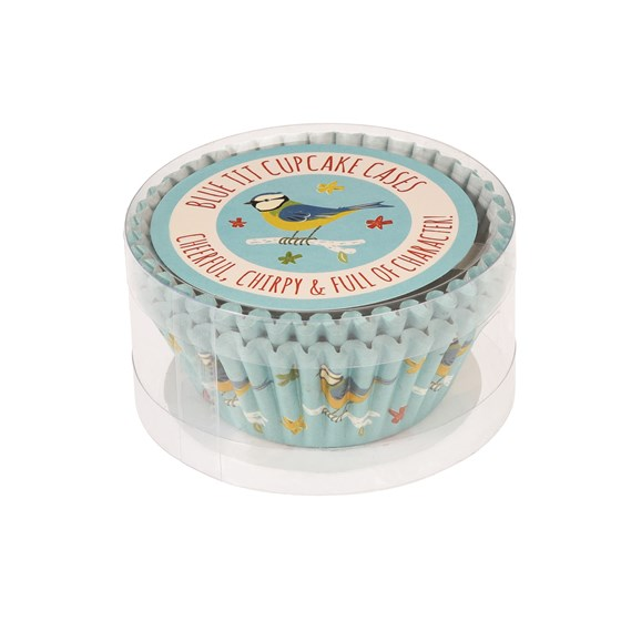 SET OF 50 BLUE TIT CUPCAKE CASES