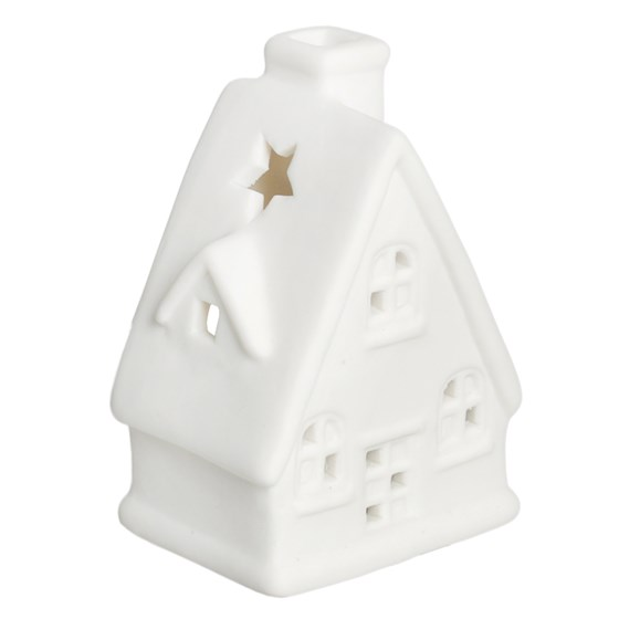 christmas chalet tealight holder