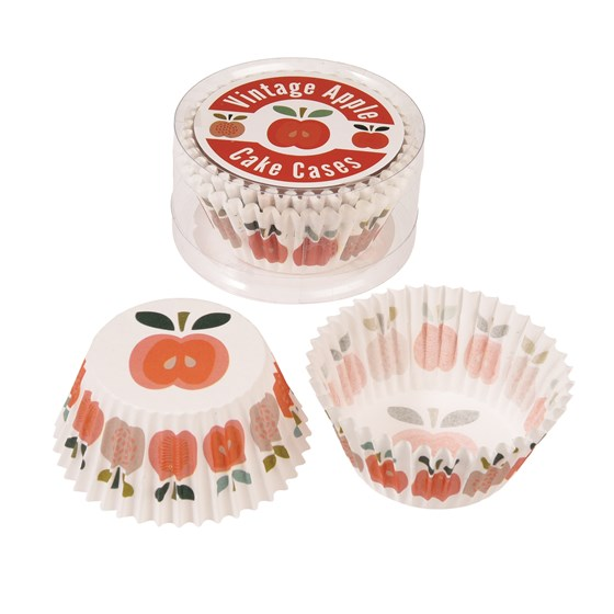 set 50 cupcake case vintage apple