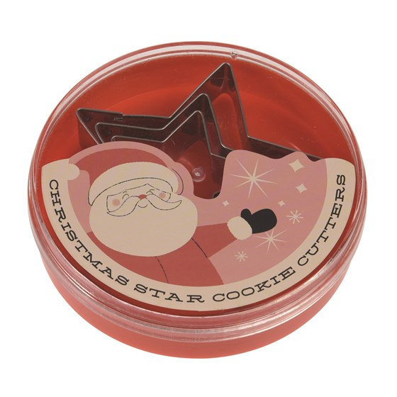 christmas star cookie cutter set 3