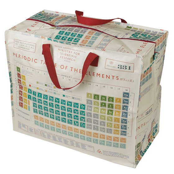 "xxl-tasche ""periodic table design"""
