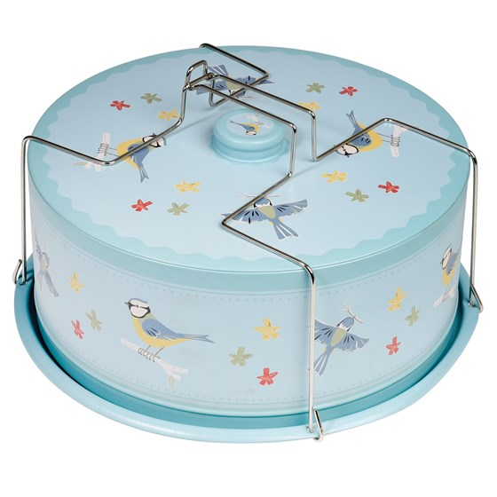 blue tit cake carrier