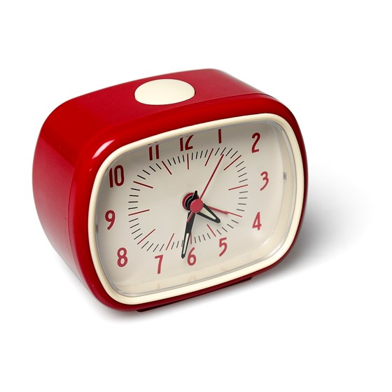 RETRO RED ALARM CLOCK