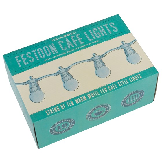 white cafe festoon lights with eu 2 pin plug