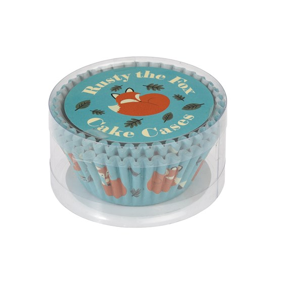 set 50 cupcake cases rusty the fox