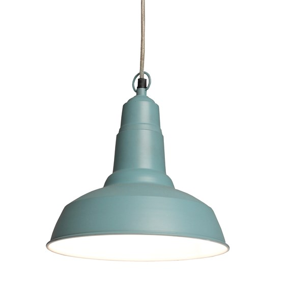 small utility pendant light cameo blue