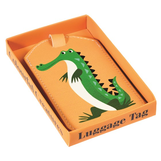 HARRY THE CROCODILE LUGGAGE TAG