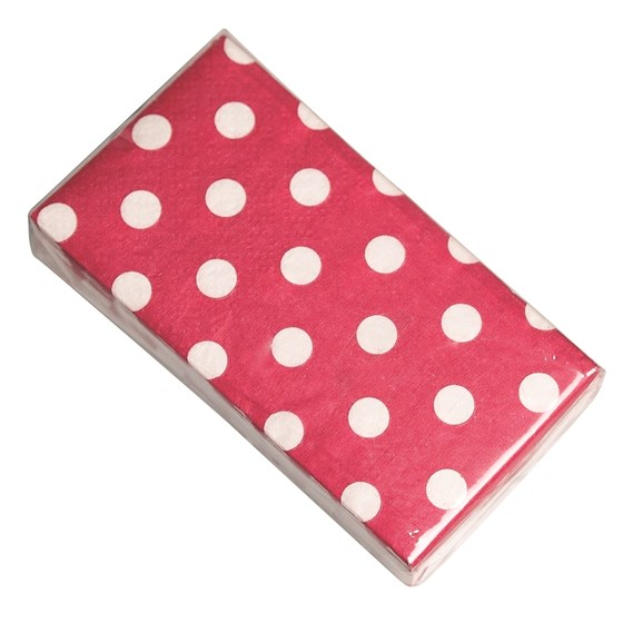 pack of 12 red retrospot tissues