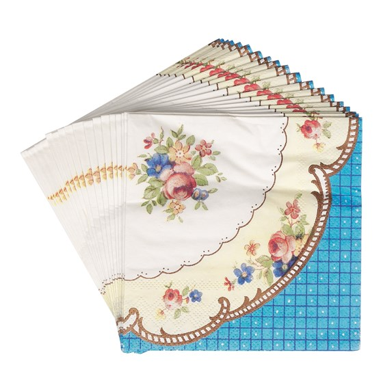 SET OF 20 REGENCY STYLE COCKTAIL NAPKINS