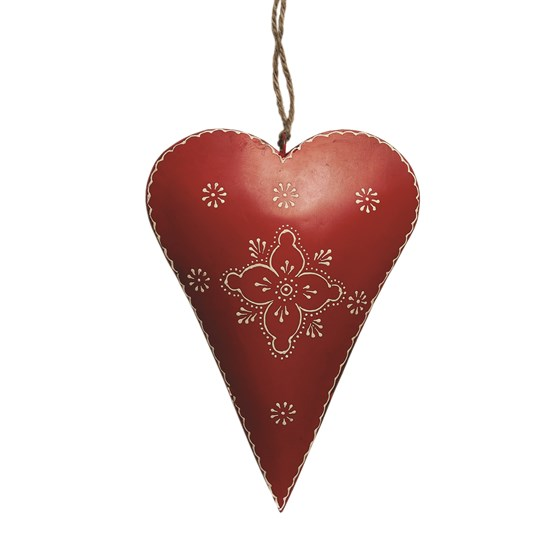MEDIUM RED CLOVER RUSTIC HEART