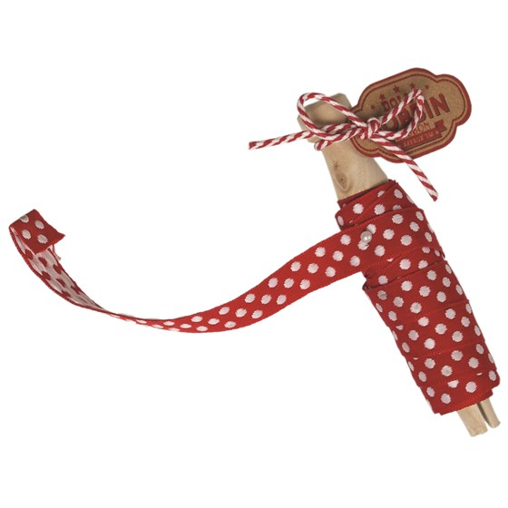 dolly bobbin ribbon red+white spot