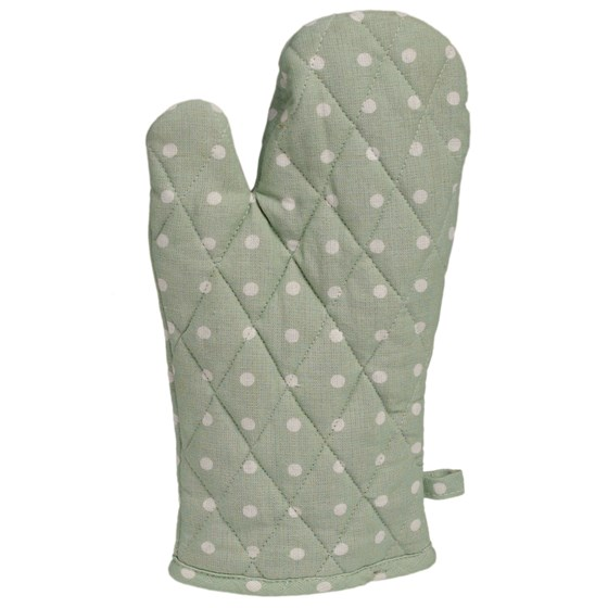 classic spot cotton oven glove mint