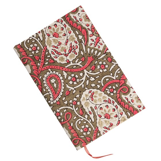 pink paisley notebook