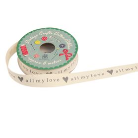 vintage crafts ribbon all my love