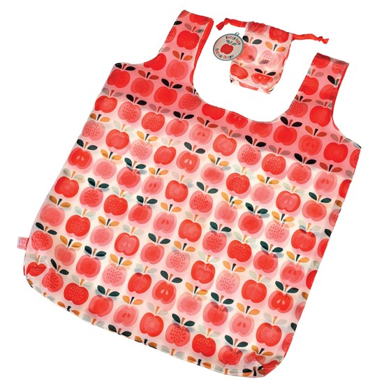 vintage apple foldaway shopping bag