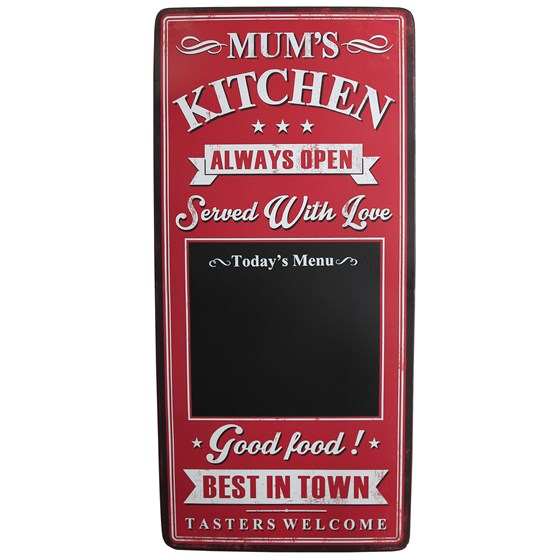 MUM'S KITCHEN METAL BLACKBOARD