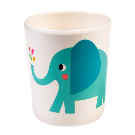 elvis the elephant melamine beaker