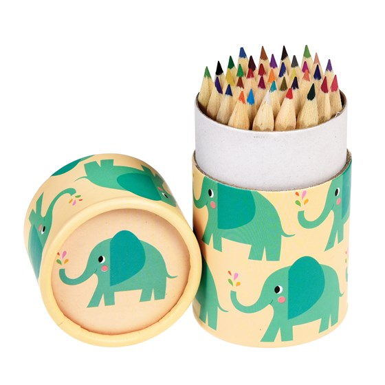 elvis the elephant colouring pencils (set of 36)