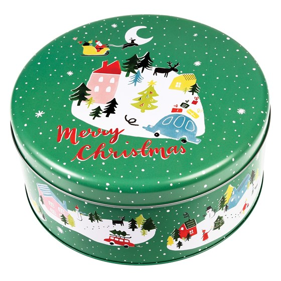 christmas wonderland cake tin